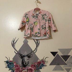 Carters | Pink Floral Sweatshirt Hoodie sz 3m